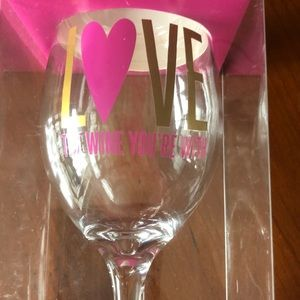 L❤️VE The Wine You're With ~Wine Glass- 13.5 fl oz
